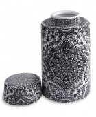 Pair Paisley Patterned Ming Style Vases